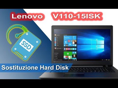 Lenovo V110-15ISK 80TL smontaggio e installazione SSD. Disassembly and SSD replacement. SSD upgrade