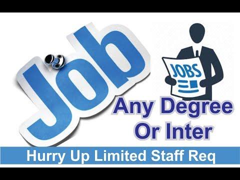 Job Vacancies  @ Hyderabad Experience / Non Experience / Good Salary