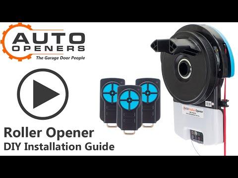 How To Install A ROLLER OPENER Auto Openers Garage Door Opener Installation Video