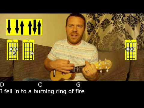 Ring of Fire by Johnny Cash - Easy Ukulele Tutorial