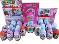 19 Surprise Eggs, FROZEN Masha and the Bear Barbie Hello Kitty Polly Pocket Winx Pixie Disney Zaini
