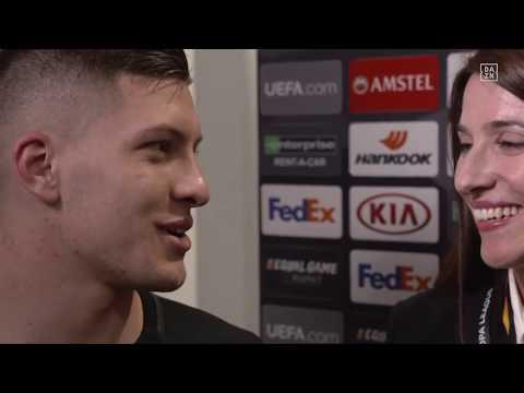 Luka Jovic im DAZN Interview nach Inter Mailand vs Eintracht Frankfurt.