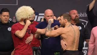 Download UFC 229: Khabib vs McGregor Weigh-in Faceoff Mp3 and Videos