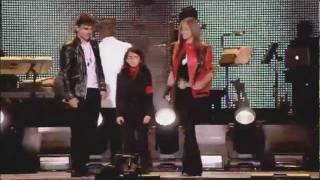 Prince, Paris and Blanket at Michael Jackson Tribute Concert