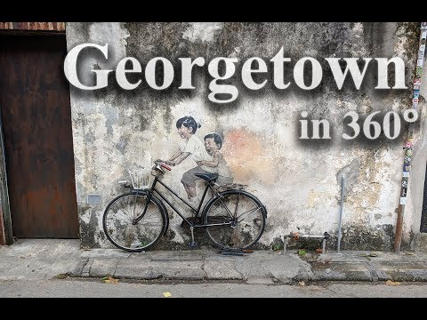 Historic Georgetown, capital of Penang, in 360 degrees