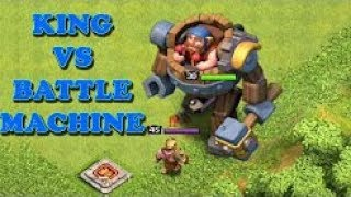 MAX BATTLE MACHINE VS MAX BARBARIAN KING | Clash of Clans