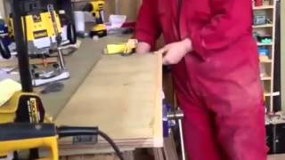 Preparing solid edges on plywood shelves