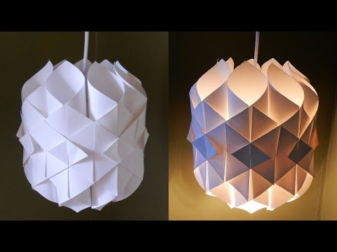 DIY Paper Lamp/lantern (Cathedral Light) - How To Make A Pendant Light Out Of Paper - EzyCraft
