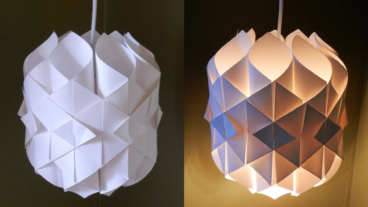 DIY paper lamp/lantern (Cathedral light) - how to make a pendant light ...
