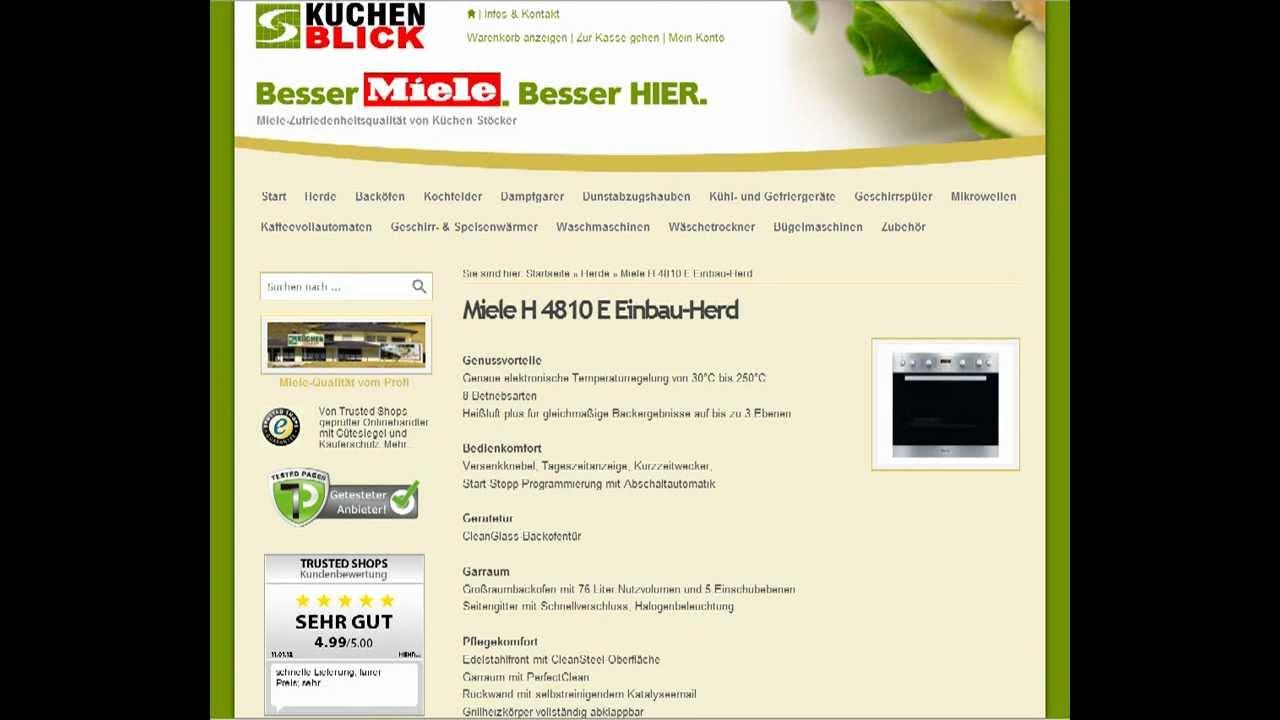 Informationen Zum Miele H 4810 E Einbau Herd Bei Kuechenblick De
