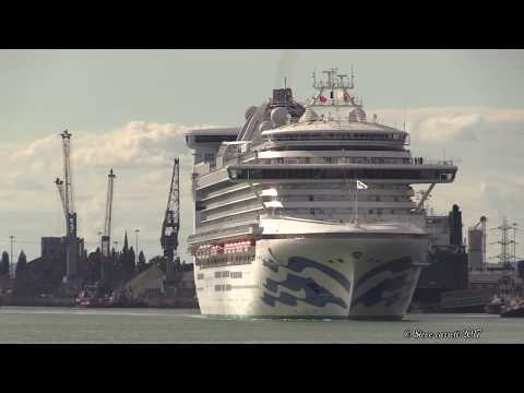 Southampton Docks with 4 more Cruise Ship departures on 05/08/17