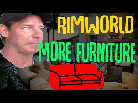 Rimworld Colony Makeover! More Furniture Mod! Rimworld Mod Showcase