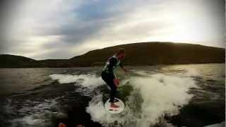 skier grete eliassen wakesurfs after 4 months post acl surgery