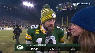 AARON RODGERS AND ERIN  ANDREWS  POSTGAME INTERVIEW | NFC DIVISIONAL