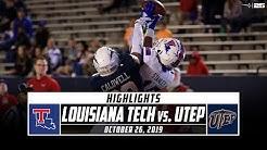 Louisiana Tech vs. UTEP Football Highlights (2019)   Stadium