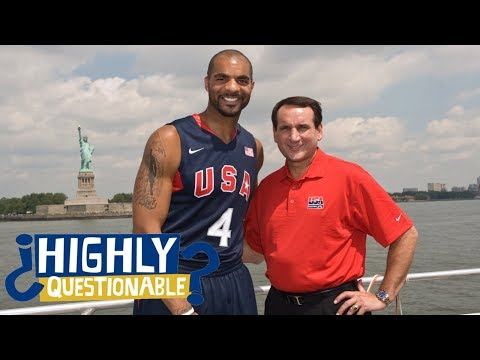 Carlos Boozer talks about infamous Coach K army helmet moment at Duke   Highly Questionable   ESPN