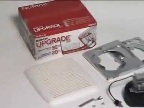 Broan Nutone Ventilation Fan Upgrade Kit Youtube