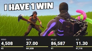he LIED about his wins and got MORE kills than me... (Fortnite Secret Pro?)