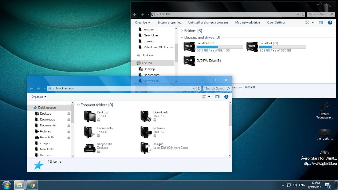 How to install Aero Glass on Windows 10 - YouTube