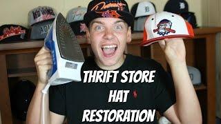 THRIFT STORE HAT RESTORATION/BRIM FLATTENING