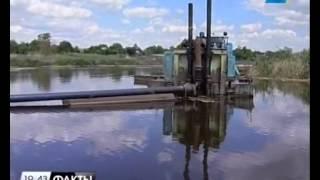 Специалисты расчистили 6,5 км русла реки Еи в Кущевском районе