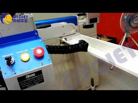 CYCJETPVC Profile Fly Laser Marking Machine/Aluminium Profile Inline Laser Printer/máy in nhãn laser