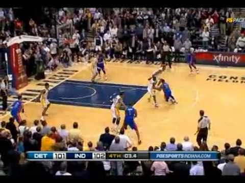 Pistons lose to Pacers on late dunk by Brandon Rush - 2/23/2011