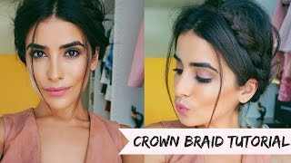 Crown Braid Hair Tutorial (EASY)