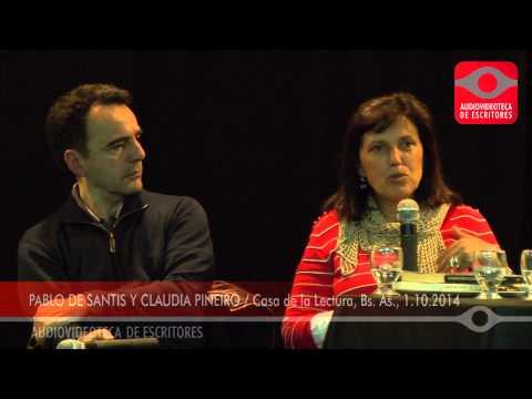 Pablo de Santis y Claudia Piñeiro: Bioy Policial - Casa de la Lectura, Bs. As. 1/10/2014