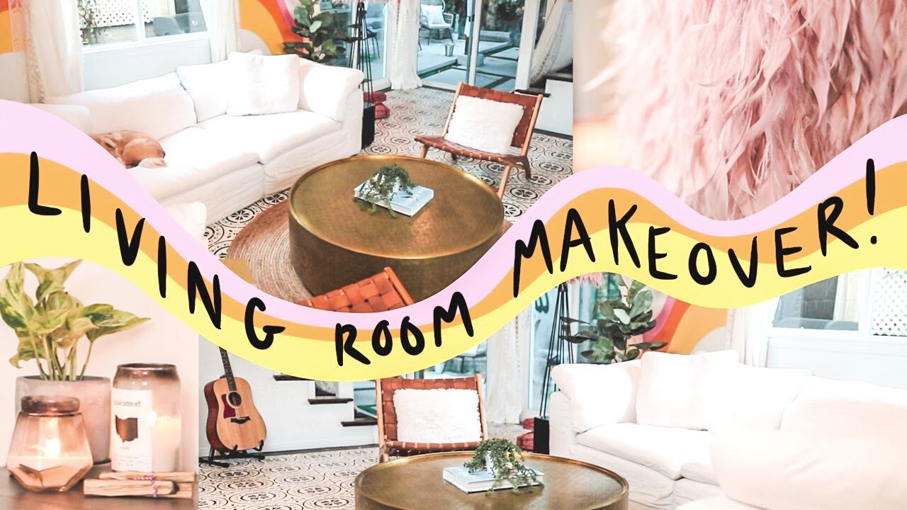 Living Room 70s Makeover Painted Tile Floor Diy Dream Space Ep
