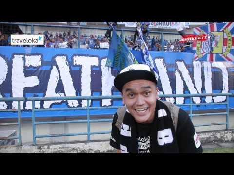 Serunya bobotoh Viking Bomber Hooligan Persib jelang kick of Persib vs Borneo FC