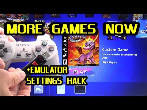 Add MORE games NOW to a Hacked PlayStation Classic + Emulator Setting Hack with USB flash drive