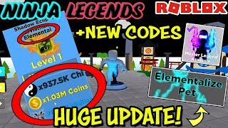 All New Codes Elementized Pets Winter Island - Ninja Legends Update Roblox - New Duel Arena