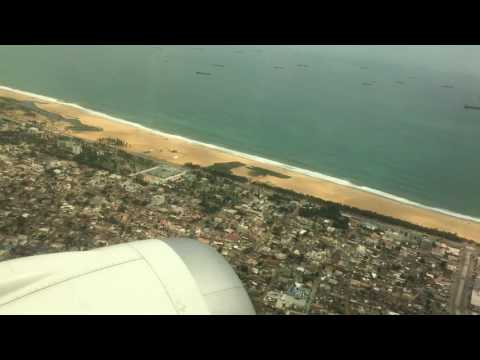 Take off from Lome Airport Togo 2016