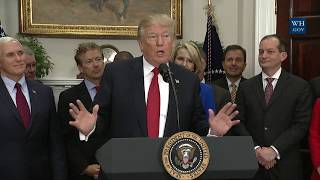 President Trump Signs an Executive Order to Promote Healthcare Choice and Competition