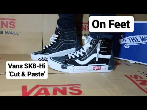1a3dff1daf ON FEET VANS SK8-Hi  CUT   PASTE   OFF WHITE  Black White   SK8-Hi Cap LX    Deconstructed