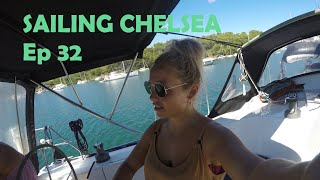 Ep 32 - Sailing Chelsea - Mistrel Winds, Dragging Anchor and Sailing to Sardinia