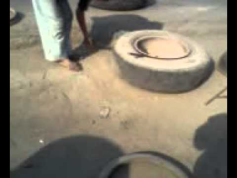 Repair a punctured tyre yourself
