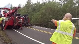 Semi Tractor Trailer Rollover Recovery