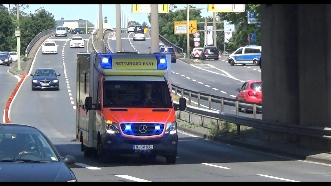 [Erstmalig] Neuer RTW BWZK Koblenz + TLF 20/30 Wald BF ...