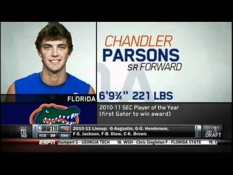 [6.23.11] Chandler Parsons - 38th Pick (NBA Draft 2011)