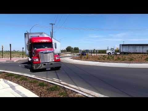 Kerman Roundabout and Trucks