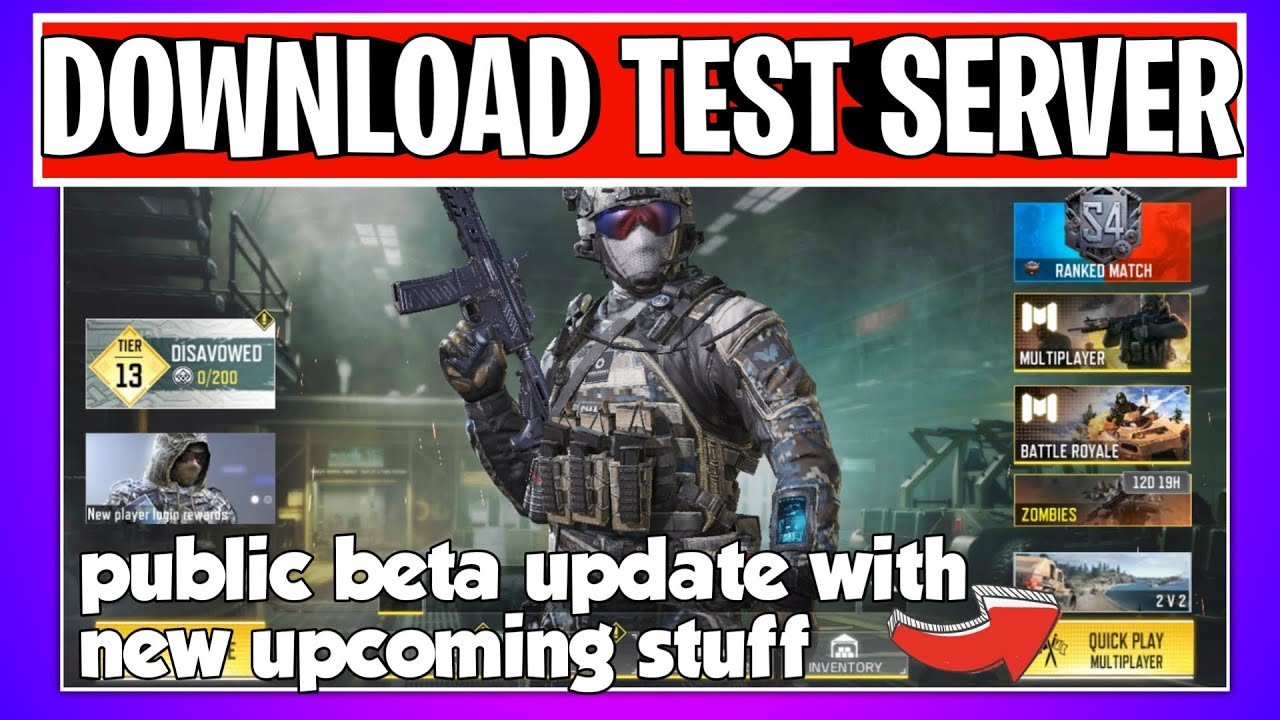 How To Download New Test Server Call Of Duty Mobile New Upcoming