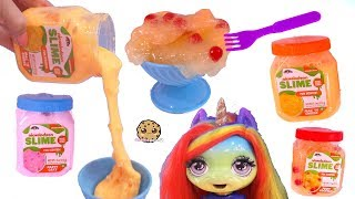 Chunky Slime Food ! Mac + Cheese  for Poopsie Rainbow Baby Unicorn