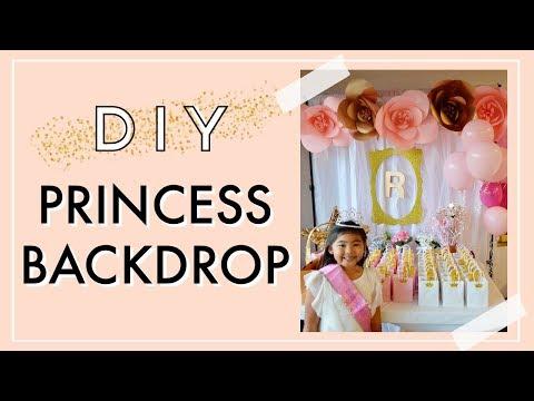 DIY Princess Backdrop   Princess Party Ideas
