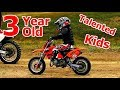 Three Years Old Talented KIDS on Motorcycles