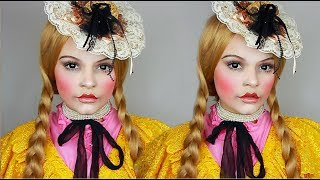 CREEPY PORCELAIN DOLL HALLOWEEN TUTORIAL! | Lucy Garland