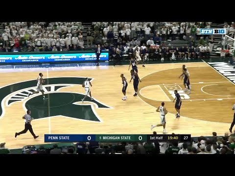 Big Ten Basketball Highlights: Penn State at Michigan State