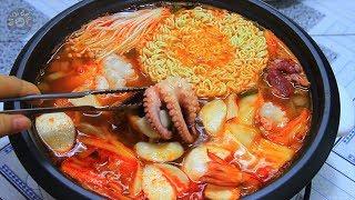 Cách Nấu Lẩu Kim Chi Hải Sản Chua Cay Hàn Quốc Cực Ngon