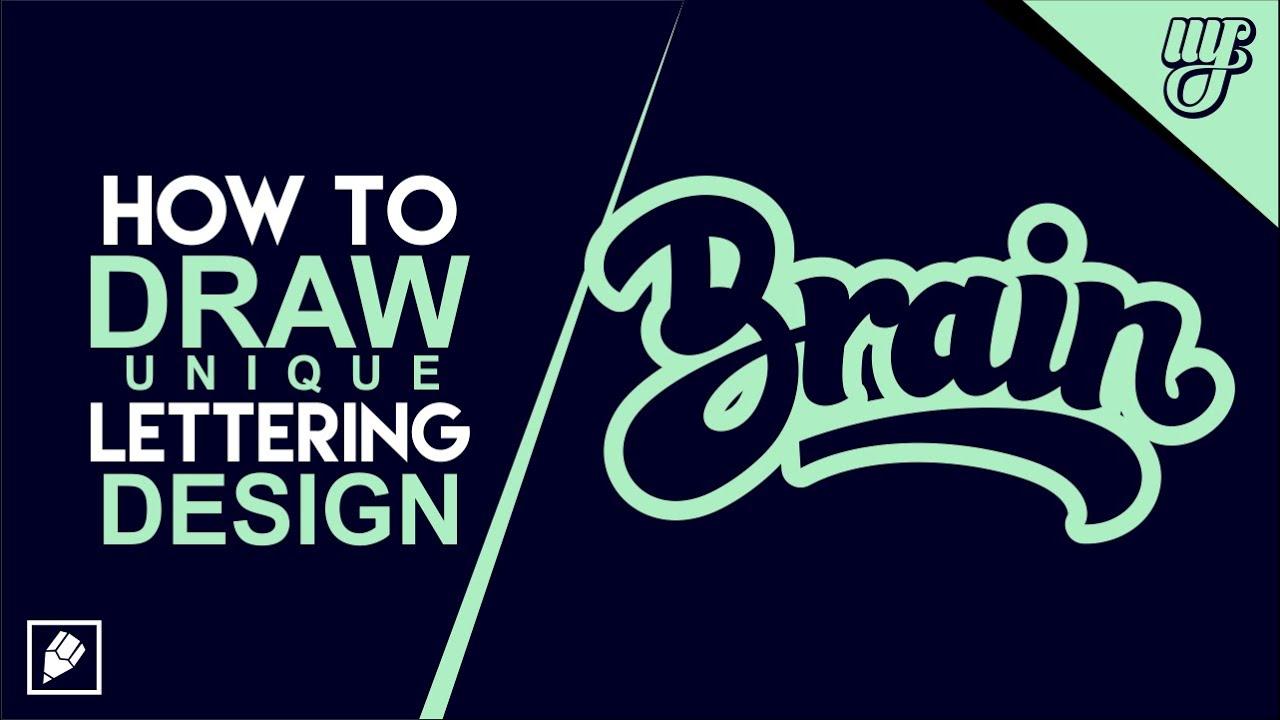 How To Draw Unique Lettering Design In CorelDraw